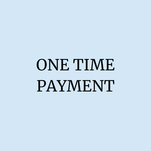 One time payment